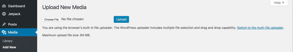 Wordpress Browser Uploader